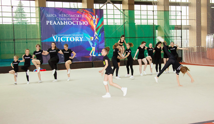 Sports cheerleading team Victory, Tyumen City