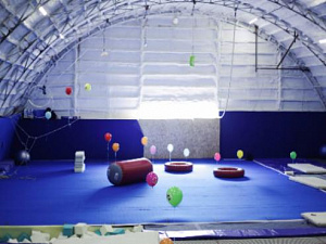 The acrobatic training center of the ANGAR, Moscow